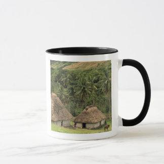 Fiji, Viti Levu, Navala, Traditional Bure houses Mug