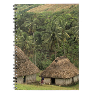Fiji, Viti Levu, Navala, Traditional Bure houses Note Book