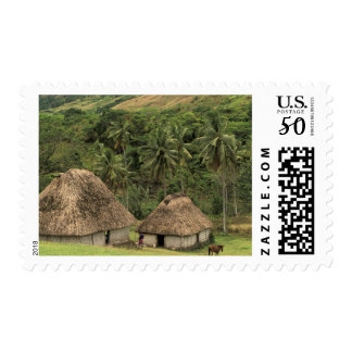 Fiji, Viti Levu, Navala, Traditional Bure houses Postage