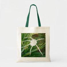 Fiji White Tendril Flower Bag With Vegetation at Zazzle