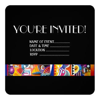 """Fijian contemporáneo invitación 5.25"""" x 5.25"""""""