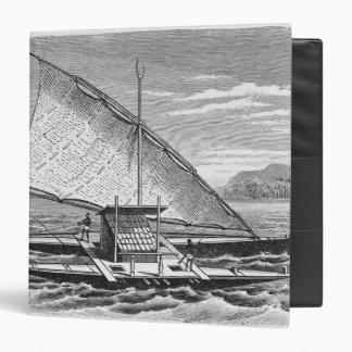 Fijian double canoe from The History of 3 Ring Binder
