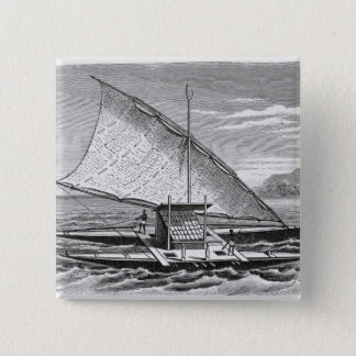 Fijian double canoe from The History of Pinback Button