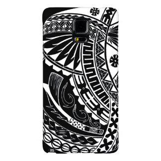 Fijian Masi Tatau from the island of Koro (Black) Galaxy Note 4 Case