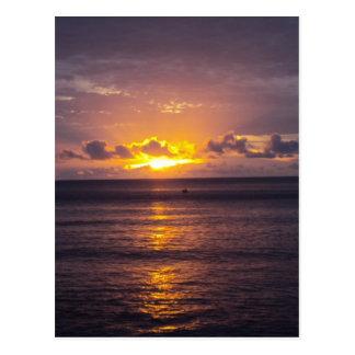 Fijiian Sunset Postcard
