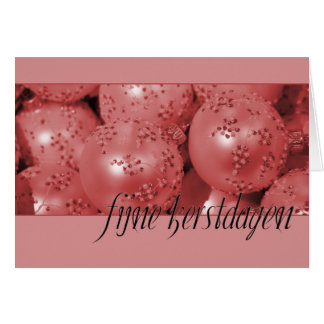 Fijne Kerstdagen   Christmas Ornaments Card