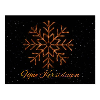 Fijne Kerstdagen  Dutch  Crystal Lights Postcard