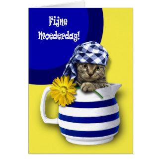 Fijne Moederdag. Tarjetas holandesas del día de ma