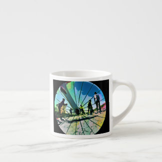 Fikeshot through the wheel espresso cup
