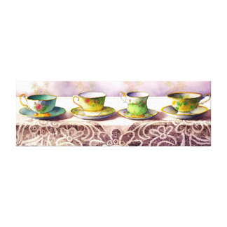 Fila 0001 de la impresión envuelta tazas de té de  lona estirada galerías