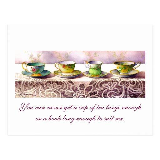 Fila 0001 de las tazas de té C.S. Lewis Postcard Postales