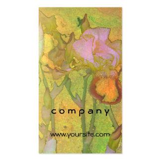 Fila 2 amarillo-naranja del iris tarjetas de visita