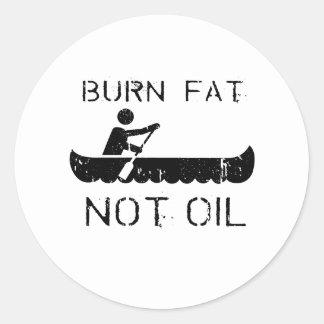Fila: Aceite de la grasa de la quemadura no Pegatinas Redondas