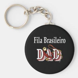 Fila Brasileiro dad Keychain