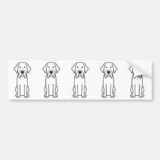Fila Brasileiro Dog Cartoon Bumper Sticker