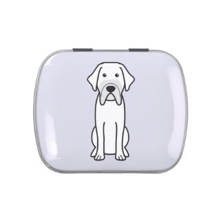Fila Brasileiro Dog Cartoon Jelly Belly Tin