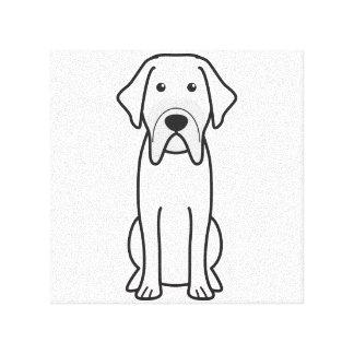 Fila Brasileiro Dog Cartoon Stretched Canvas Print