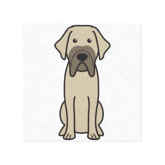 Fila Brasileiro Dog Cartoon Canvas Print