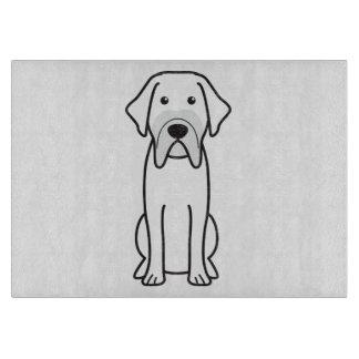 Fila Brasileiro Dog Cartoon Cutting Board