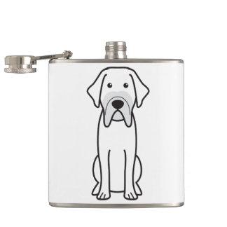 Fila Brasileiro Dog Cartoon Hip Flasks