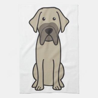 Fila Brasileiro Dog Cartoon Towel