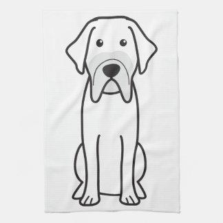 Fila Brasileiro Dog Cartoon Hand Towel