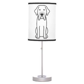 Fila Brasileiro Dog Cartoon Desk Lamps
