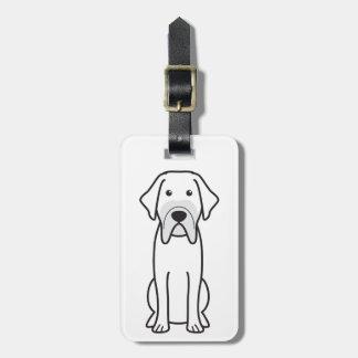 Fila Brasileiro Dog Cartoon Bag Tag