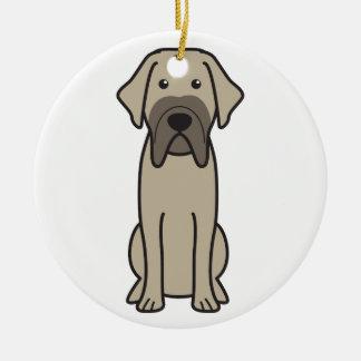Fila Brasileiro Dog Cartoon Christmas Ornament