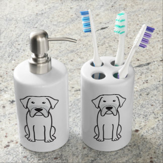Fila Brasileiro Dog Cartoon Bath Accessory Set