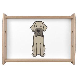 Fila Brasileiro Dog Cartoon Serving Platters