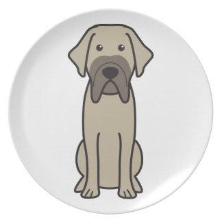 Fila Brasileiro Dog Cartoon Dinner Plates