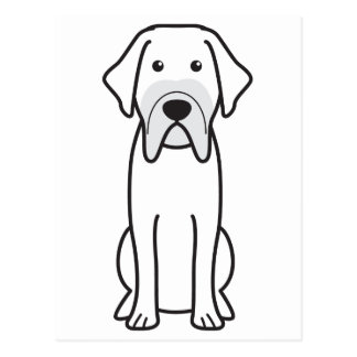Fila Brasileiro Dog Cartoon Post Cards