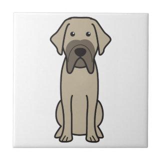 Fila Brasileiro Dog Cartoon Tile