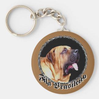 Fila Brasileiro Dog keychain