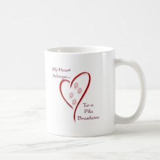 Fila Brasileiro Heart Belongs Coffee Mug