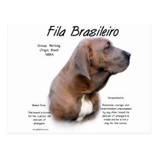 Fila Brasileiro History Design Post Card