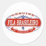 Fila Brasileiro Pegatina Redonda
