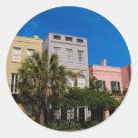 Fila Charleston, SC del arco iris Pegatina Redonda