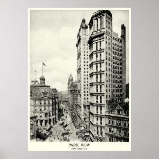 Fila de 1898 parques, New York City Posters