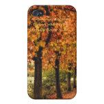 Fila de árboles con el caso de Iphone de la cita iPhone 4/4S Fundas