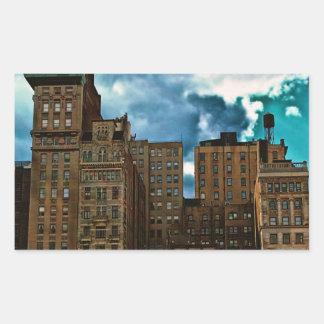 Fila de edificios en New York City Pegatinas
