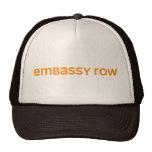 Fila de embajada gorro de camionero