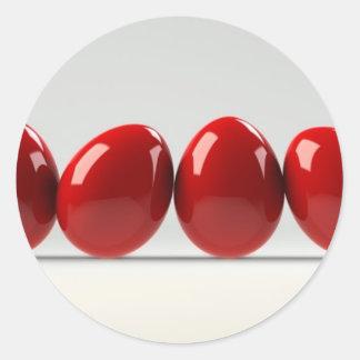fila de huevos pegatina redonda