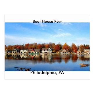 Fila de la casa barco, Philadelphia, sello del PA Tarjetas Postales