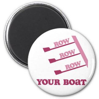 Fila de la fila de la fila de RowChick su barco Imán Redondo 5 Cm