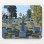 Fila de lápidas mortuorias cruzadas, Arlington Tapetes De Ratones