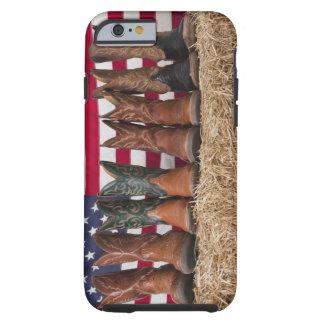 Fila de las botas de vaquero en haystack funda de iPhone 6 tough