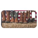Fila de las botas de vaquero en haystack funda para iPhone SE/5/5s