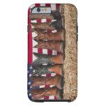 Fila de las botas de vaquero en haystack funda resistente iPhone 6